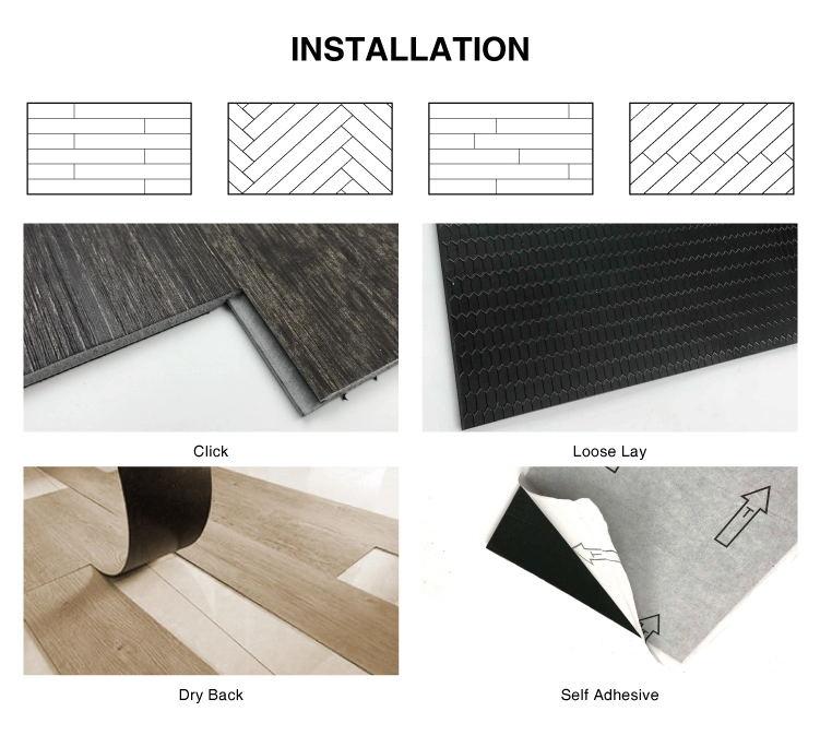 PTW6003-6 Lvt Flooring For Basement Floor And Decor